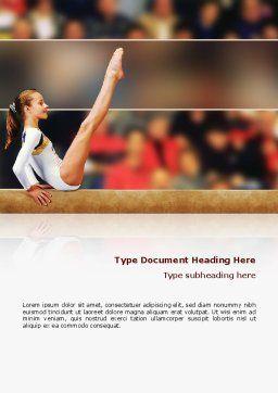 Artistic Gymnastics Word Template, Cover Page, 02299, Sports — PoweredTemplate.com