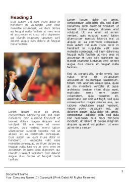 Artistic Gymnastics Word Template, Second Inner Page, 02299, Sports — PoweredTemplate.com