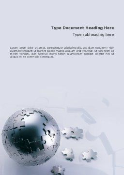 World Puzzle Word Template, Cover Page, 02301, Global — PoweredTemplate.com