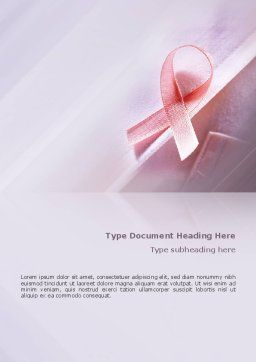 Breast Cancer Awareness Word Template Cover Page