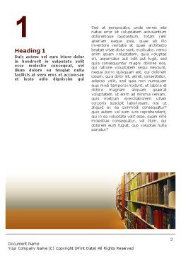 Library Book Shelves Word Template, First Inner Page, 02303, Education & Training — PoweredTemplate.com