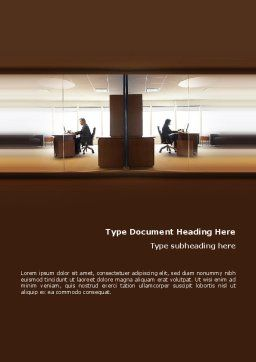 Office Space Word Template, Cover Page, 02306, Business — PoweredTemplate.com