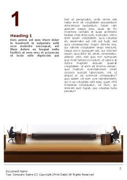 Office Space Word Template, First Inner Page, 02306, Business — PoweredTemplate.com