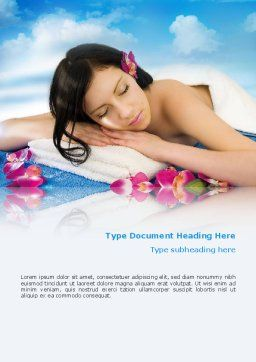 Spa Word Template, Cover Page, 02307, Holiday/Special Occasion — PoweredTemplate.com