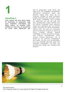 Badminton Word Template, First Inner Page, 02308, Sports — PoweredTemplate.com