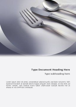 Dinner Word Template, Cover Page, 02312, Careers/Industry — PoweredTemplate.com