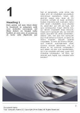 Dinner Word Template, First Inner Page, 02312, Careers/Industry — PoweredTemplate.com