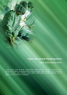 Scrub Nurse Word Template, Cover Page, 02313, Medical — PoweredTemplate.com