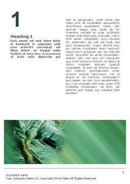 Scrub Nurse Word Template, First Inner Page, 02313, Medical — PoweredTemplate.com