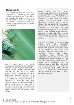 Scrub Nurse Word Template, Second Inner Page, 02313, Medical — PoweredTemplate.com