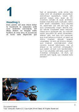 Biker Word Template, First Inner Page, 02315, Cars/Transportation — PoweredTemplate.com