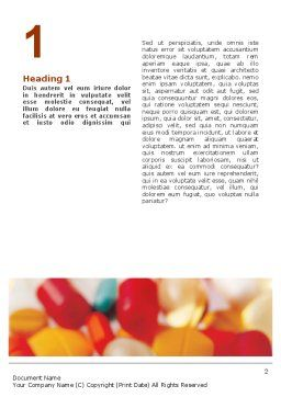 Pills In Collage Word Template, First Inner Page, 02319, Medical — PoweredTemplate.com
