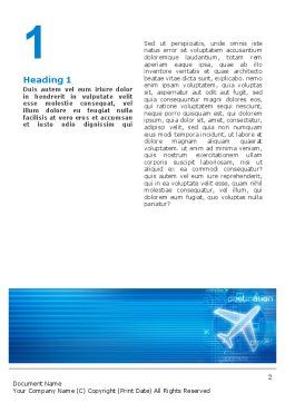 Airways Word Template, First Inner Page, 02321, Cars/Transportation — PoweredTemplate.com
