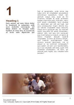 In a Crowd Word Template, First Inner Page, 02325, People — PoweredTemplate.com