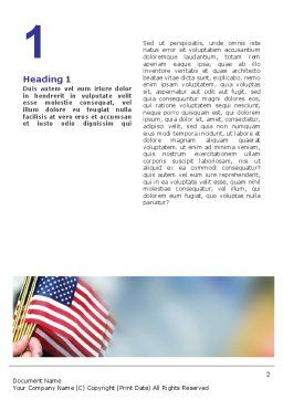 USA Flag Word Template First Inner Page
