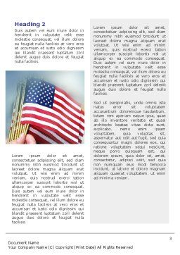 USA Flag Word Template, Second Inner Page, 02329, Flags/International — PoweredTemplate.com