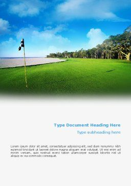 Golf Club Word Template, Cover Page, 02334, Sports — PoweredTemplate.com