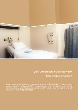 Hospital Ward Word Template, Cover Page, 02337, Medical — PoweredTemplate.com