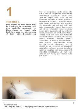 Hospital Ward Word Template, First Inner Page, 02337, Medical — PoweredTemplate.com