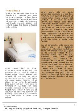Hospital Ward Word Template, Second Inner Page, 02337, Medical — PoweredTemplate.com