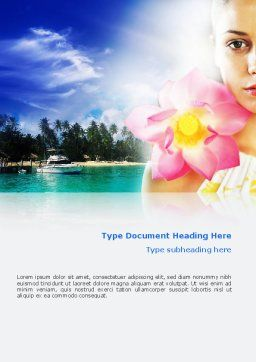 Spa Resort Word Template, Cover Page, 02340, Nature & Environment — PoweredTemplate.com