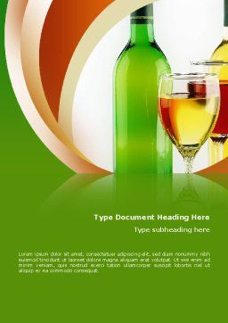 White Wine Tasting Word Template, Cover Page, 02342, Food & Beverage — PoweredTemplate.com