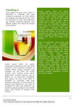 White Wine Tasting Word Template, Second Inner Page, 02342, Food & Beverage — PoweredTemplate.com
