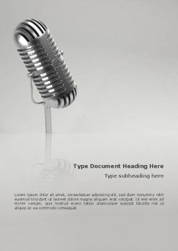 Audio Recording Word Template, Cover Page, 02343, 3D — PoweredTemplate.com