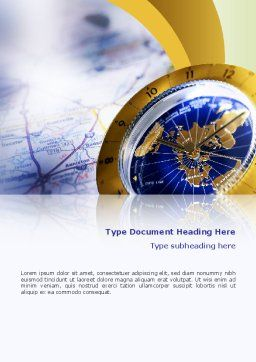 Define Travel Direction Word Template, Cover Page, 02344, Education & Training — PoweredTemplate.com