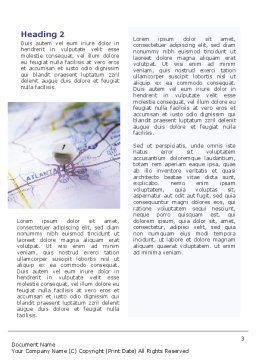 Define Travel Direction Word Template, Second Inner Page, 02344, Education & Training — PoweredTemplate.com