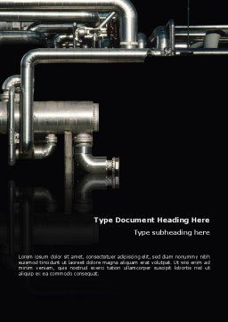 Pipes Word Template, Cover Page, 02345, Utilities/Industrial — PoweredTemplate.com