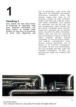 Pipes Word Template, First Inner Page, 02345, Utilities/Industrial — PoweredTemplate.com
