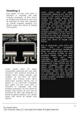 Pipes Word Template, Second Inner Page, 02345, Utilities/Industrial — PoweredTemplate.com