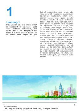 City At The Sea Word Template, First Inner Page, 02348, Business — PoweredTemplate.com