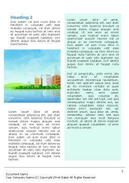 City At The Sea Word Template, Second Inner Page, 02348, Business — PoweredTemplate.com