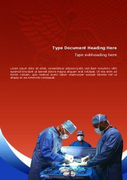 Surgical Help Word Template, Cover Page, 02349, Medical — PoweredTemplate.com