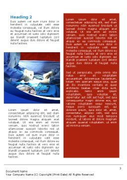 Surgical Help Word Template, Second Inner Page, 02349, Medical — PoweredTemplate.com