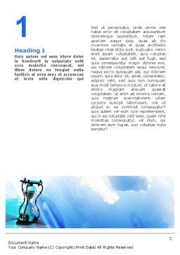 Time and Infinity Word Template, First Inner Page, 02351, Business Concepts — PoweredTemplate.com