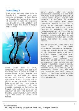 Time and Infinity Word Template, Second Inner Page, 02351, Business Concepts — PoweredTemplate.com