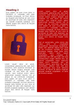 Site Security Word Template Second Inner Page