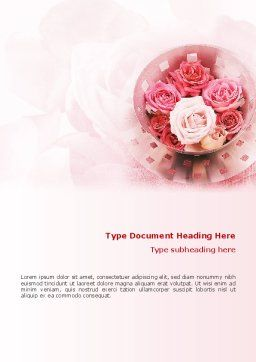 Roses Word Template, Cover Page, 02354, Holiday/Special Occasion — PoweredTemplate.com