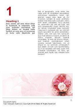 Roses Word Template, First Inner Page, 02354, Holiday/Special Occasion — PoweredTemplate.com