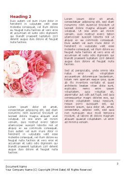Roses Word Template, Second Inner Page, 02354, Holiday/Special Occasion — PoweredTemplate.com