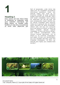 Tropical Forest Word Template, First Inner Page, 02355, Nature & Environment — PoweredTemplate.com