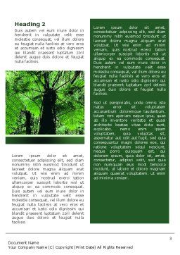 Tropical Forest Word Template, Second Inner Page, 02355, Nature & Environment — PoweredTemplate.com