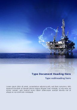 Drilling Platform Word Template, Cover Page, 02356, Utilities/Industrial — PoweredTemplate.com