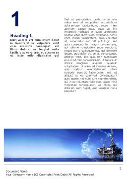 Drilling Platform Word Template, First Inner Page, 02356, Utilities/Industrial — PoweredTemplate.com