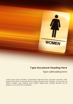 Icon Women Word Template, Cover Page, 02357, Business Concepts — PoweredTemplate.com