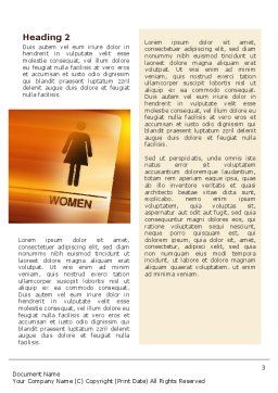Icon Women Word Template, Second Inner Page, 02357, Business Concepts — PoweredTemplate.com