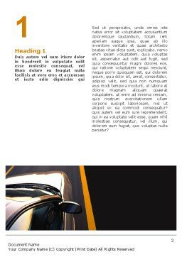 Car On Highway Word Template, First Inner Page, 02358, Cars/Transportation — PoweredTemplate.com